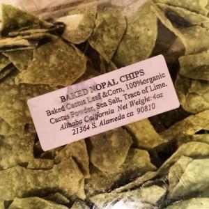 Baked Nopal Chips